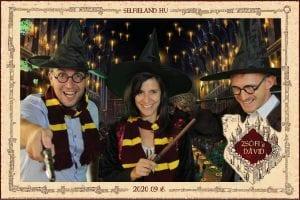 Harry Potter Szelfigép és az esküvői szolgáltató csapat